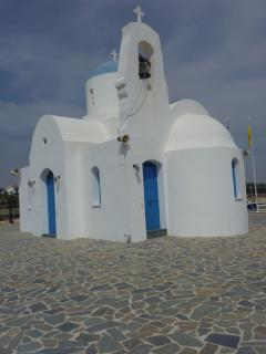 PEACE & TRANQUILITY AT THE CHAPEL OVER-LOOKING AGIA TRIADA (TRIAS) COVE