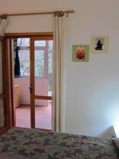 bedroom and veranda