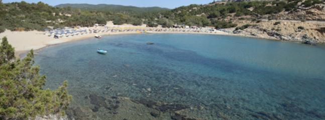 Glystra sandy beach, a few minutes drive