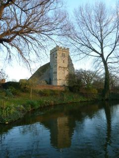 Arreton church on a winter morning