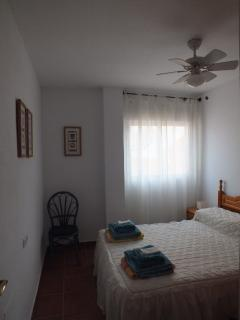 Light and airy second bedroom with double bed