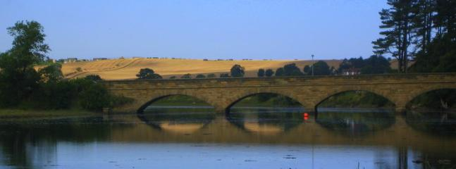 Alnmouth Bridge and Estuary mouth