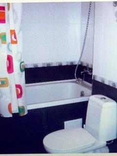 BATHROOM - BATH with SHOWER, WC and sink