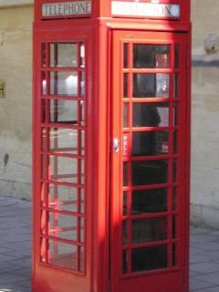 Iconic red phone booth
