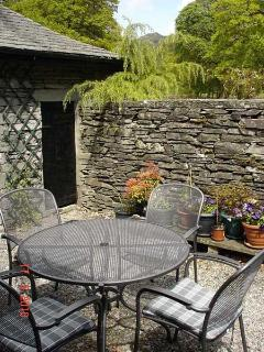 Private courtyard, great for a summer BBQ!