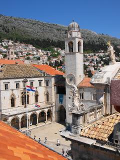 Dubrovnik's main square, a min walk from  the Secret Apartment