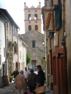 St. Michel Church and Boulangerie in the village