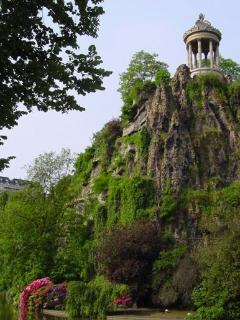 The lovely Butte Chaumont park - 10 mins walk or 5 mins by direct bus