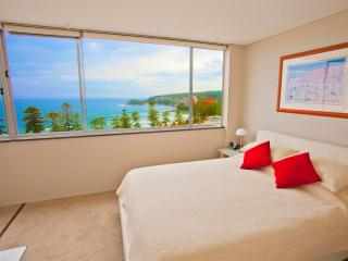 Comfortable queen size bed in bedroom, views in bedroom too!