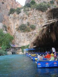 Walk through stunning Saklikent gorge and dine at the floating restaurant