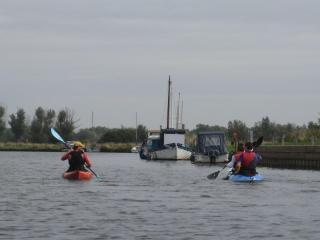 canoeing on the River Waveney