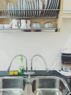Double sink & water filter