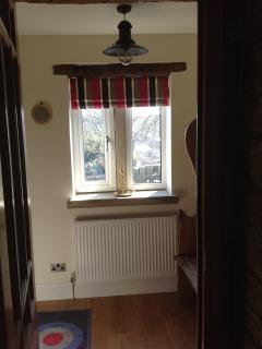 Entrance porch with Yorkshire settle