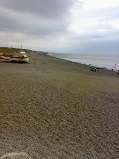 Nearest beach Weybourne Feb