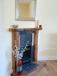 Feature fireplace in the sitting room