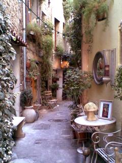 Typical French walks in nearby Mougins.