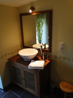 salle de bains forêt