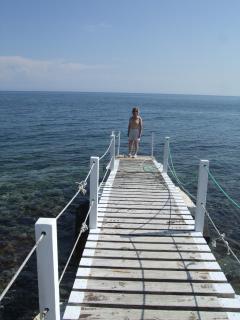 The sea close to the villa