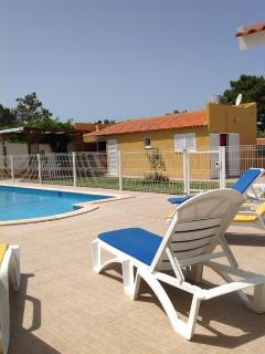 Pool side Studio and Open air meals place (Sun protected)