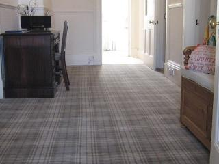 Your Hallway & Desk  - and beautiful Axminster Ulster Beamont Weave Tartan Carpet