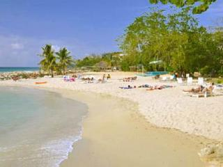 The main beach.  Shade or sun, as you please, at Carib Beach Apartments