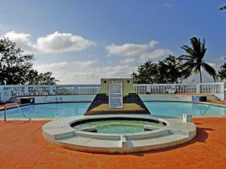 The pool and Jacuzzi at Carib Beach Apartments