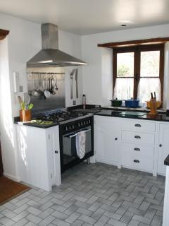 Hand painted solid wood fitted kitchen