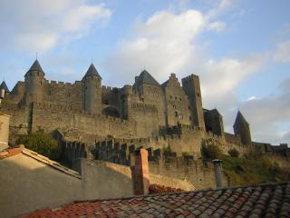 Cezanne stunning views of castle ramparts, Carcassonne