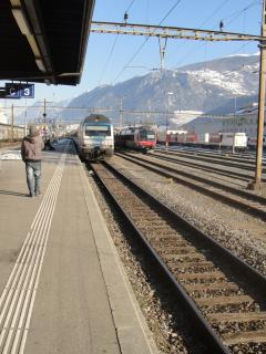 Train Station in Sion takes you the resort of Nendaz