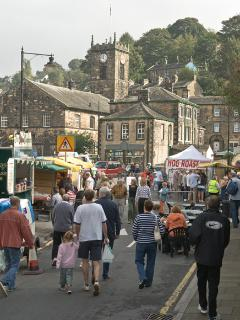 The bustling french market in Holmfirth