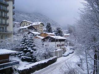 The street view under snow