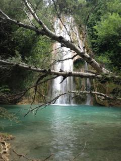 The local waterfall hidden in the village
