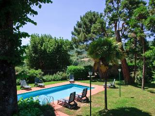 Villa garden and pool