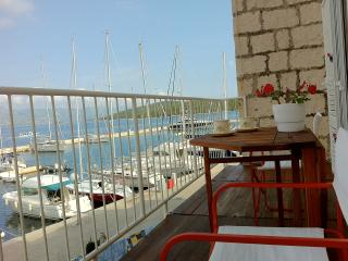 Yacht marina front apartment in centre, Korcula Town