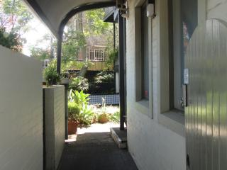 Through the gate to the courtyard