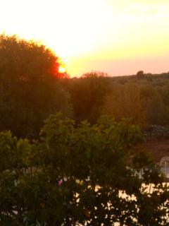 tramonto piscina
