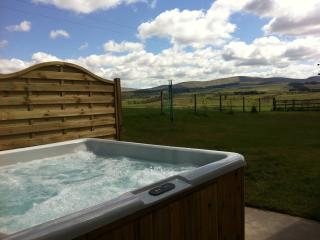 Relax and soak up the View from your own private hot tub.