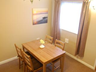Dining table with seating for four