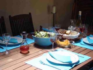 A shady alternative is lunch in the 'summer kitchen' (used all year round despite the name!)