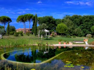 2 bedroom villa near Siena with bio pool and set in stunning gardens