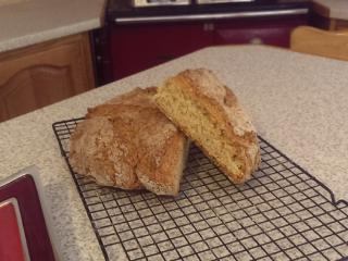 Homemade brown bread on arrival!