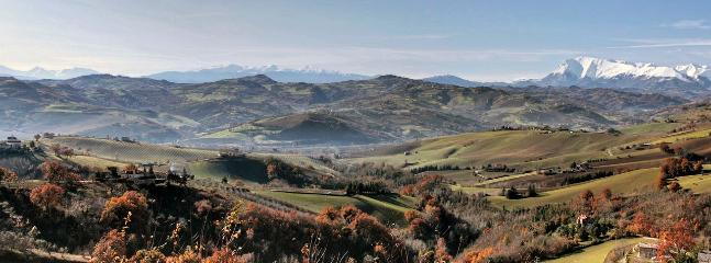 The Sibillini mountains from our village