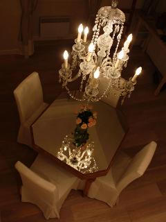 Romantic night time dining