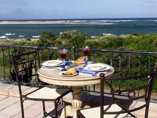 Our favourite view from 3rd floor sun deck with dining table and chairs for 8 with stunning views