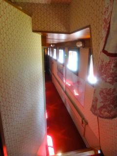 hallway to the 3 cabins with en suite bathrooms