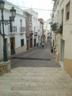 A street in Calpe Old Town.