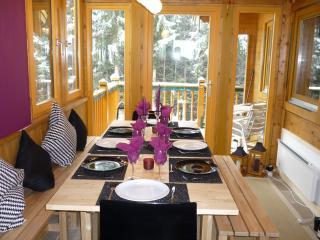 Dining area looking onto balcony -House 3