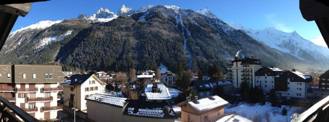 View of Mont Blanc from the sunny, private balcony