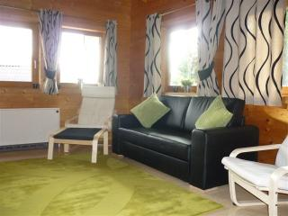 Private self catering family log cabin with amazing mountain views in village., Filzmoos