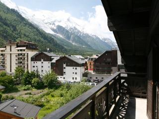 Mont Blanc from the balcony in summer